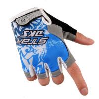 半指手套 手套 骑行手套男夏季薄短指透气减震骑行装备山地车单车自行车手套