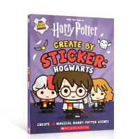 【全店300减100】英文原版 Harry Potter: Create by Sticker: Hogwarts 哈利