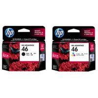 惠普原装正品 hp 46 彩色喷墨打印机一体机墨盒 HP46黑色墨盒 HP46彩色墨盒 适用于 Deskjet IA 2