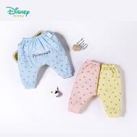 迪士尼Disney童装新款女童休闲裤子秋冬加厚夹棉波点外出服双层PP长裤184K797