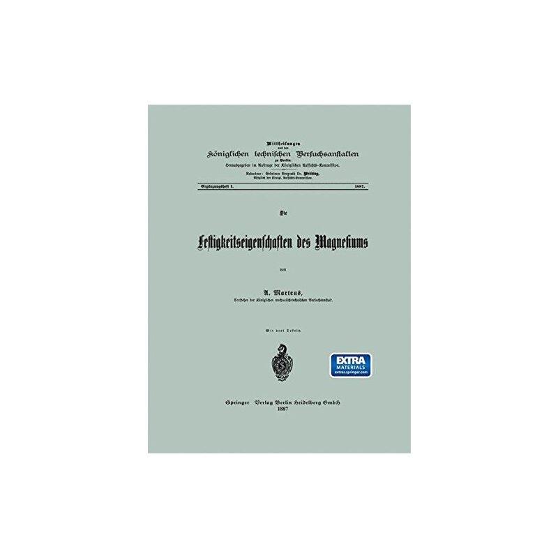 【预订】Die Festigkeitseigenschaften Des Magnesiums 9783662408070 美国库房发货,通常付款后3-5周到货!