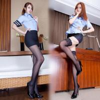 女警制服丝袜美腿情趣内衣激情套装小胸性感职业制服OL六件套女警制服
