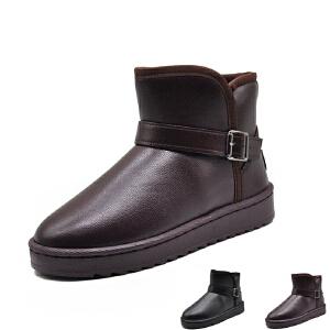 WARORWAR新品YM156-A805冬季欧美平底舒适女士雪地靴