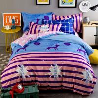 加厚磨毛四件套冬季1.5m1.8m2.0米双人床上用品床单被套