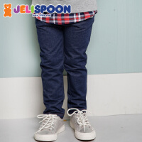 【618大促-每满100减50】韩国童装Jelispoon吉哩熊春款秋款男童女童酷帅牛仔裤