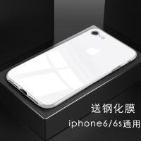苹果6手机壳玻璃iPhone6splus网红iPhone7男女6P硅胶iphone8防摔软套ipho