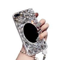 苹果8plus手机壳5.5寸钻iphone8plus女款ihone7plus硬壳pg7p包边pg8p 苹果8plus镜