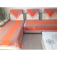 老粗布沙发垫沙发巾布艺四季通用防滑加厚棉布料组合现代简约夏