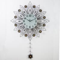 挂钟客厅欧式钟表现代简约创意个性家用静音时钟装饰挂表石英钟大 20英寸以上