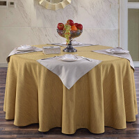 新款酒店棉麻圆桌布方台布餐桌布艺茶几布盖布纯色素雅复古加厚不透光