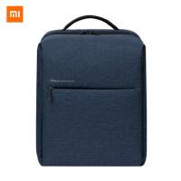 小米简约双肩包休闲多功能书包男女笔记本电脑包时尚潮流旅行背包