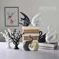简约家居装饰品 现代陶瓷工艺品 创意家饰客厅电视柜酒柜摆件