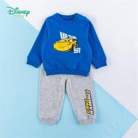 迪士尼Disney童装 男童套装圆领肩开卫衣纯棉运动长裤两件套2020年春季新品中小童潮酷衣服