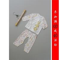 [Q30-800]秋新生儿0-3月纯棉婴儿衣服和尚服内衣套装