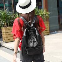 双肩包女真皮2018新款袋鼠正品女士软皮包包旅行包韩版大容量背包