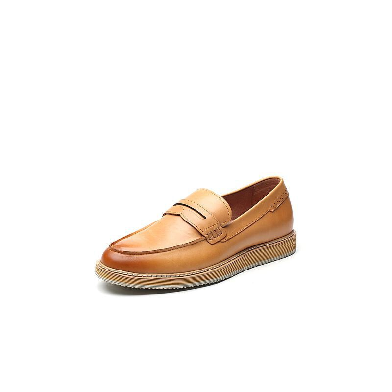 Tata/他她2017秋专柜同款牛皮乐福鞋男休闲鞋22R26CM7