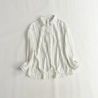 秋款女长袖雪纺衫 宽松日系OL打底气质衬衫 19I