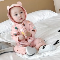 婴儿秋款衣服新生儿爬服长袖连体衣纯棉男女幼儿韩版宝宝哈衣