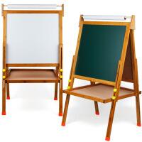 A款儿童画板学习板楠竹可升降支架绘画描素板双面磁性黑板白板