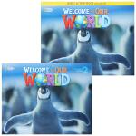 包邮 美国国家地理幼儿 Welcome To Our World 2 学生用书和练习册套装 含CD DVD 赠在线学习