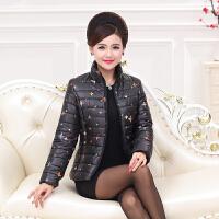 中年妈妈装新款冬装时尚羽绒棉衣中老年女装加厚短款棉衣外套