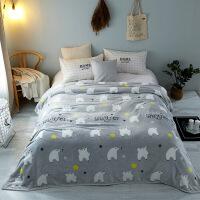 保暖法莱绒卡通毛毯秋冬盖毯冬天床单礼品毯子