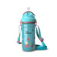 儿童水杯宝宝学饮杯学生喝水杯子幼儿园背带水壶吸管杯a217