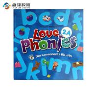 原装进口3-6岁 幼儿英语自然拼读phonics love phoncis 2A 台湾东西图书 零基础英语口音培训