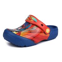 Crocs卡洛驰儿童洞洞鞋趣味学院超人小克骆格凉鞋|204719 趣味学院超人小克骆格