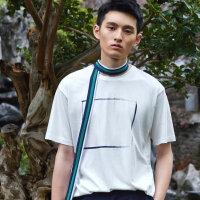 【1件2折到手价:52】chin祺男士短袖t恤韩版宽松圆领半袖夏季男装大码体恤潮流上衣服