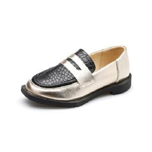 正品比比我新款英伦风女童休闲单皮鞋2017秋童鞋 单鞋儿童