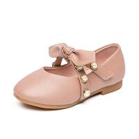 女童皮鞋春秋儿童公主鞋单鞋宝宝小皮鞋中大童豆豆鞋2018新款童鞋