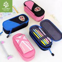 韩国kk树小学生笔袋男女童大容量儿童文具盒笔袋分层简约笔袋