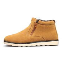 冬季防水雪地靴男户外短靴子加绒保暖棉鞋韩版休闲皮靴防滑马丁靴