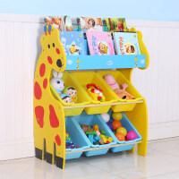 儿童玩具收纳架宝宝绘本书架幼儿园卡通收纳柜整理架储物柜o8l