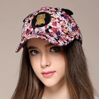 秋冬季可爱风韩版女棒球帽子街头旅游时尚款花色遮阳帽