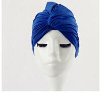 泳帽女长发女士加大不勒头时尚可爱褶皱温泉大码游泳帽布