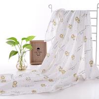 夏季宝宝新生婴儿薄款襁褓纱布包巾抱毯洗澡浴巾盖被透气