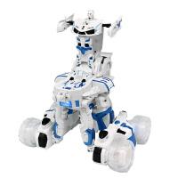 变形金刚玩具变形机器人超大6岁3-4岁遥控汽车充电动男孩无线儿童 抖音 蓝色+红色 美国队长兰博基尼