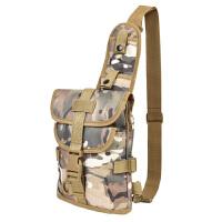 特种兵户外军迷战术背包防水骑行腰包男女<军品腰包迷彩胸包