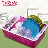 白领公社 沥水架 带盖塑料碗柜大容量防尘防虫碗筷餐具整理收纳盒放碗碟架子厨房用品置物架
