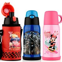迪士尼保温杯麦昆儿童保温杯带吸管三用水壶小学生宝宝幼儿园水杯