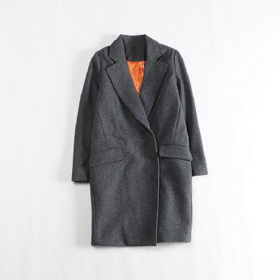 秋冬中长款毛呢外套 暗扣茧型韩版显瘦加厚羊毛大衣K 发货周期:一般在付款后2-90天左右发货,具体发货时间请以与客服商的时间为准