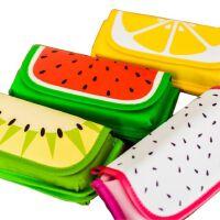 小清新水果笔袋韩版创意大容量多层文具盒铅笔袋可爱简约笔盒 西瓜