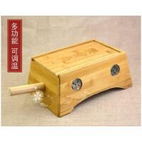 美观精致8孔随身灸艾灸箱腰温灸器竹制腰背温灸盒手柄八柱艾灸盒子竹