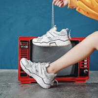 休闲鞋 女士反光运动鞋2020秋季新款小白鞋女式网红同款跑步鞋子休闲女鞋子