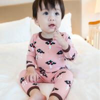 婴儿保暖衣套装男1-3岁儿童加绒内衣两件套加厚女宝宝衣服秋冬潮0