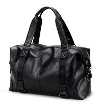 旅行包男士手提包大容量斜挎背包韩版商务休息出差包行李包大包包 黑色