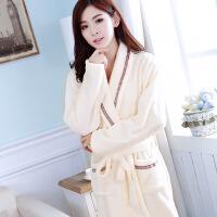 睡袍女秋浴袍浴衣冬季和服加厚法兰绒珊瑚绒长袖秋冬韩版甜美可爱