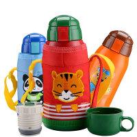 儿童保温杯带吸管水壶学生宝宝水杯幼儿园保温杯不锈钢